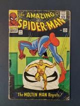 AMAZING SPIDER-MAN #34 2.5 GD+ 2ND MOLTEN MAN UNPRESSED MARVEL SILVER COMIC - $33.85