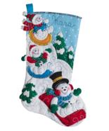 "Bucilla 'Snow Day Fun Day' 18"" Christmas Stocking Felt Applique Kit, 86713 - $25.99"
