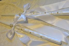 """24"""" Greek Orthodox Wedding Ceremony Candle Lambathe Lambades Set Ivory W... - $80.75"""