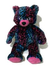 "BAB Build A Bear Workshop Wild About Spots Leopard Cat Blue Pink Purple 18""  - $18.70"