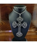 1974 Vintage Silver Limited Edition SARAH COVENTRY Ornate Cross Necklace - $39.95