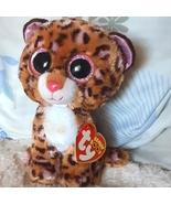 Leopard Baby Beanie Boo BIG EYE stuffed Animal Ty beanie boo - $24.00