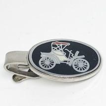 Vintage Silver Tone Antique Automobile Tie Bar Clasp Tie Tack - £26.06 GBP