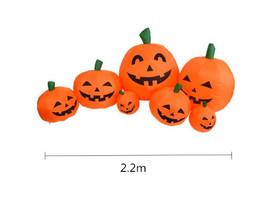 2.2M 7Pcs Pumpkin Shape Inflatable Prop for Halloween Spirit Festival De... - $62.67