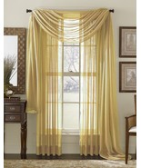 """SHEER VOILE 216"""" WINDOW SCARF GOLD - $12.86"""