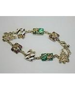 Avon Christmas Charm Bracelet Presents Under the Tree 2004 - $9.89