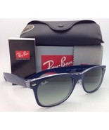 New RAY-BAN Sunglasses NEW WAYFARER RB 2132 6053/71 55-18 Blue-Clear Fra... - $159.95