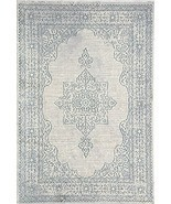 Rugs America BH250A Welby Cyan Accent Rug, 2'x4' , Blue - $59.99