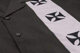 Men's Casual Two Tone Biker Cross Premium Guayabera Bowling Dress Shirt image 4