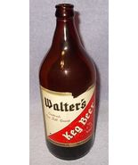 Walters Keg Beer Picnic Quart Size Brown Bottle Eau Claire Wisconsin - $11.95