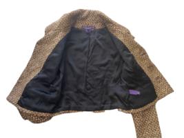 Brown Gold Ralph Lauren Collection Women Blazer Coat Jacket Sz 4 Made in USA image 4