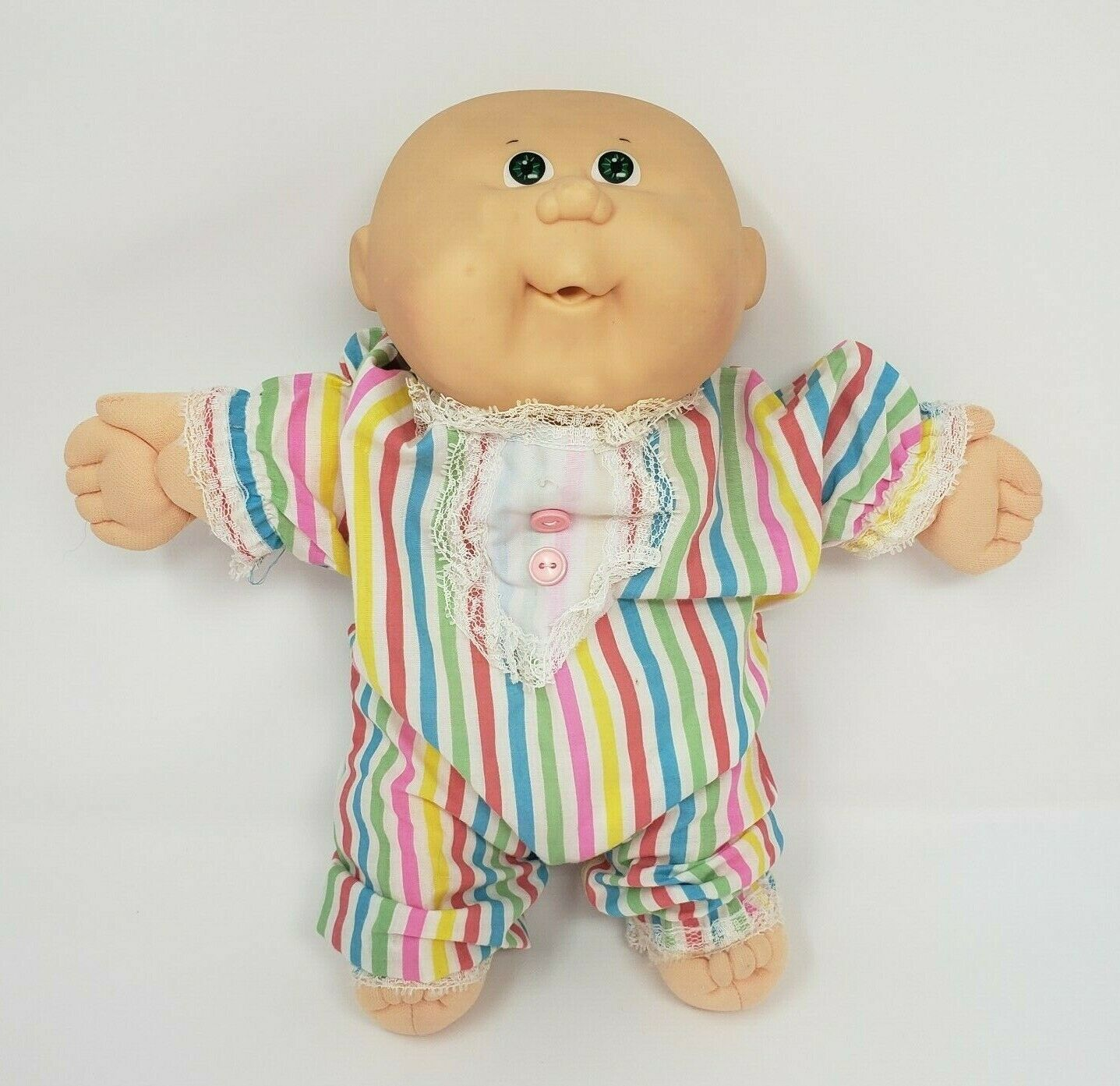 Primary image for VINTAGE 1987 CABBAGE PATCH KIDS BABIES BOY GREEN EYES STUFFED ANIMAL PLUSH DOLL