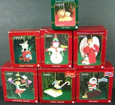 Carlton Cards Christmas Ornaments Lot of 6 Eskimo Pie Mom Co-Worker Ange... - $29.69