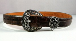 Brighton Museum Belt Womens Brown Leather Size M - $29.65