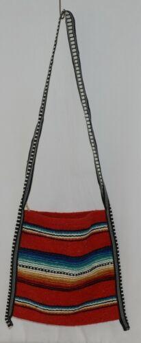 Gemini Mermaids Product Number RBB5001 Medium Serape Boho Bag Red Blue Striped