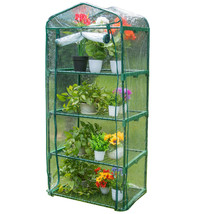 """Mini Green House with 4 Tier 4 Shelf and PVC Cover, 27""""(L) x 19""""(W) x 63... - $44.99"""