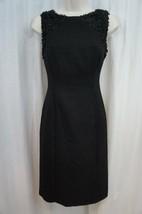 Anne Klein Dress Sz 4 Solid Black Confetti Sleeveless Career Cocktail Sh... - $59.35