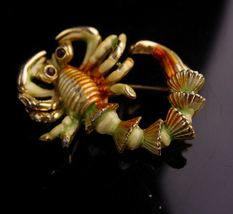 Vintage BSK Lobster Brooch - unisex Fisherman gift - Little Taste of Mai... - $45.00