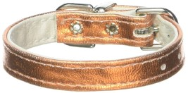 Mirage Pet Products Metallic 3/8-Inch Wide Plain Collars, 8-Inch, Metallic Orang - $32.98