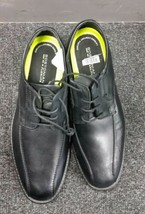 Clarks men bostonian flexlite with green line black leather Shoes Size 8.5 - $74.19