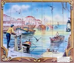 "35.4"" X 41.3"" ALGARVE Tile Mural | Wall Tiles | Made to Measure | Custom... - $1,260.00"