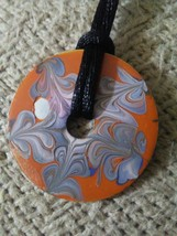 Hand Painted Reversible So YOUnique Solo Pendant (original creation) - $7.00