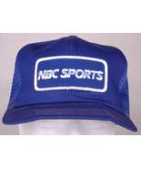 Vtg NBC SPORTS Hat-Blue-Mesh-Snapback-Patch-Trucker Cap-TV Media Enterta... - $42.06