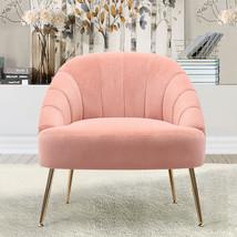 Nubuck Velvet Bucket Style Accent Chair, Pink - $220.00