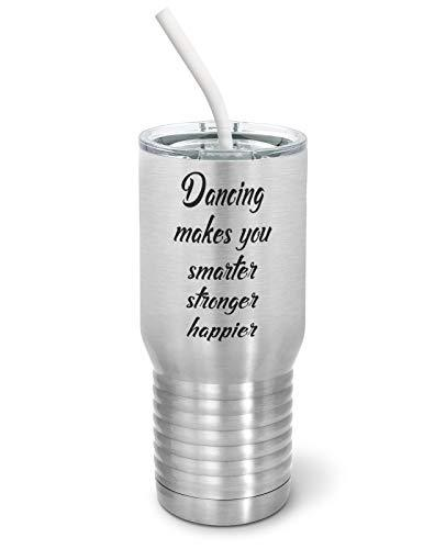 Primary image for PixiDoodle Inspirational - Happy and Strong Dancing Tumbler with Spill-Resistant