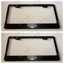 2X 3D For Cadillac Logo Escalade XT4 XT5 Black Stainless License Plate Frame - $35.63