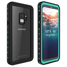 Galaxy S9 Waterproof Case, AMORNO Waterproof Shockproof Dustproof (Blue) - $32.45