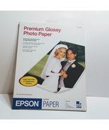 Epson Premium Glossy Photo Paper 8.5x11 20sheets New sealed - $5.50