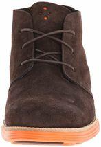 Cole Haan Men's Lunargrand Woodbury Brown Suede Orange Chukka Boot 11 US NIB image 3
