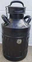 Vintage Ellisco Pan American 5 Gallons Liquid Metal Oil Jug Can with Lid... - $173.24