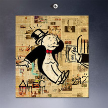 """Alec Monopoly """"Dollars"""" NEW HD print on canvas huge wall picture 24x20"""" - $20.78"""