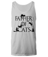 Father of Cats Tank Top Funny Father's Day Gift Cat Dad Game of Thrones ... - $19.98+