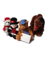 Plush Toy Bundle Mouse Snowman Canada Post Teddy Bear Wrinkles - £11.29 GBP