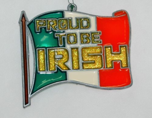 Generic Glass Sun Catcher Ireland Flag Proud To Be Irish