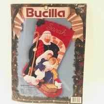 Bucilla Silent Night Christmas 18-inch Diagonal Felt Stocking Kit 83007 ~ NEW - $39.99