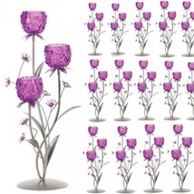 Lot 30 Tall Candelabra Lovely Pink Purple Candleholder Wedding Centerpieces - $668.25