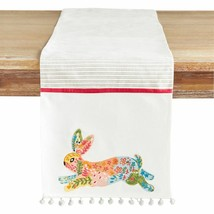 NWT Pier 1 Imports EMBROIDERED  Easter RABBIT Table Runner 13 x 72 - $39.59
