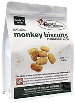 Exotic Nutrition Monkey Biscuits - Healthy Crunchy Biscuit Treat for Pra... - $19.99