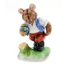 Hungarian Porcelain Herend Bear Figurine with Honey Jar - $90.92