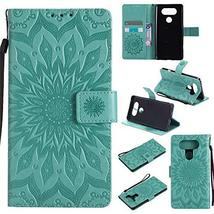 GLORYSHOP Mobile Phone Case for LG V20,[Wrist Strap] Sunflower PU Leathe... - $7.91