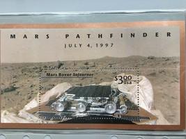 USPS Mars Pathfinder $3.00 Stamp Sheet July 4, 1997 Mars Rover Sojourner - $4.99