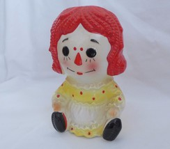 Raggedy Ann Vase Plant Pot Baby Nursery Vintage Japan #4149 - $26.16 CAD