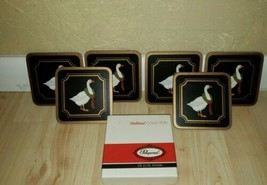 Vintage Pimpernel 6- Coasters & Casserole Stand -  Christmas Goose EUC - $9.89