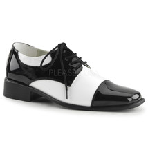 "FUNTASMA Disco-18 1"" Heel Oxfords - Black-White Patent - $45.95"