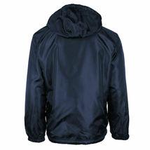 Men's Water Resistant Polar Fleece Lined Hooded Windbreaker Rain Jacket image 7
