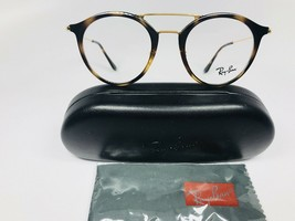 New Authentic Ray Ban RB 7097 2012 Havana & Gold Eyeglasses 49mm with Case - $104.37